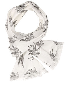 Katia Swallows Scarf - hats, scarves & gloves