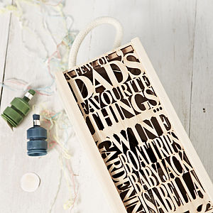 Personalised Dads Favourite Wooden Bottle Box - cards & wrap