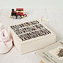 Personalised Wooden Baby Keepsake Box