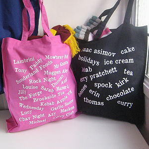 Personalised Favourites Cotton Shopper Bag - gifts for mothers