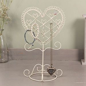 Heart Wire Photo And Jewellery Holder - jewellery storage