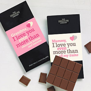 'I Love You More Than..' Chocolate Bar - chocolates & confectionery