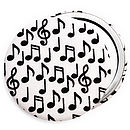 Musical Notes Compact Mirror, black notes on white background