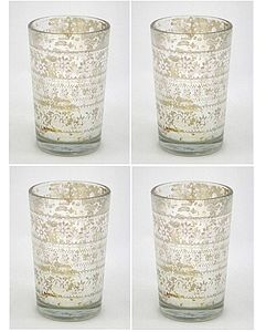 Silver Tea Light Holders Set Of Four - lighting