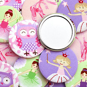 Set Of Girls Party Bag Compact Mirrors