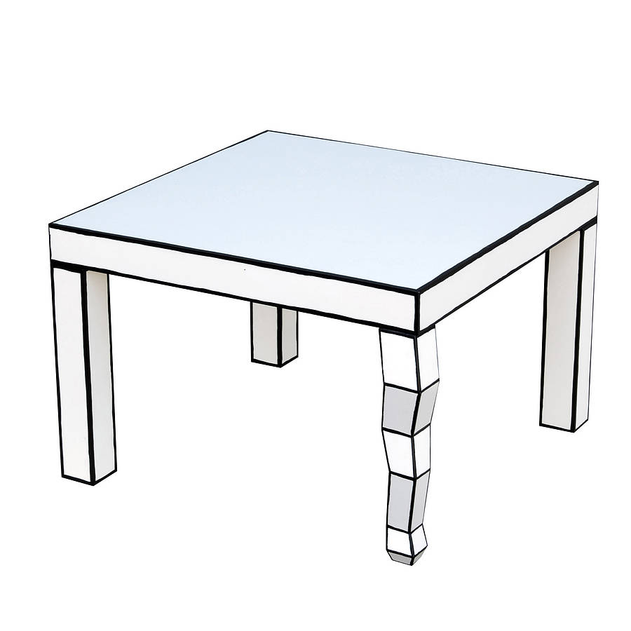 Cartoon style side table by out there interiors for Table design sketch