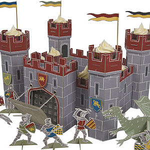 Knights Castle Cake Display And Toy Castle - toys & games