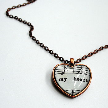 Hold My Heart Music Notes Pendant