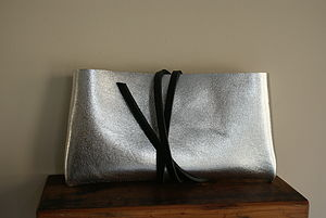Handmade Leather Clutch - bridesmaid accessories