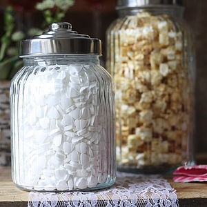 Glass Sweet Jar - art deco wedding style