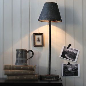 Tall Metal Table Lamp - living room