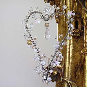 Beaded Heart Decoration - decorative accessories