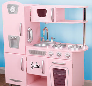 Personalised Retro Play Kitchen - gifts for children