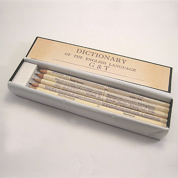 Set Of Five Personalised Wedding Pencils