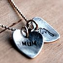 Handmade Mother Child Personalised Necklace