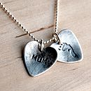 Personalised childs footprint pendant
