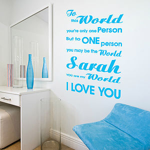 Caring Wall Quote Stickers