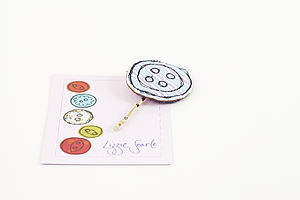 Embroidered Strip Button Hairgrip - hair accessories