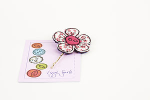 Embroidered Patterned Flower Hairgrip