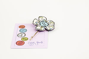 Embroidered Floral Print Flower Hairgrip