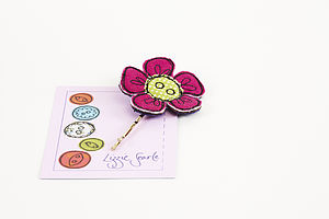 Embroidered Flower Hairgrip - hair accessories