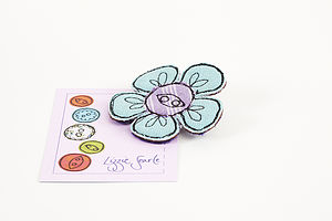 Embroidered Flower Brooch