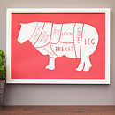 Butcher's Lamb Kitchen Print