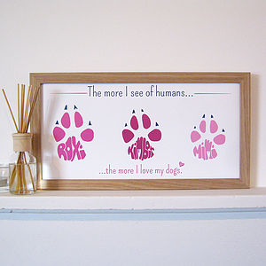 Personalised Pet Paw Print - posters & prints