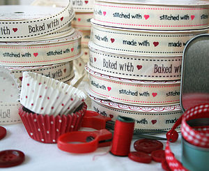 'With Love' Craft Ribbon - baking