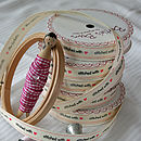 Stitched with love ribbon reel