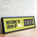 Personalised 'Since…' Date Print
