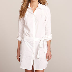 Women's Cotton Shirt Dress - blouses & shirts
