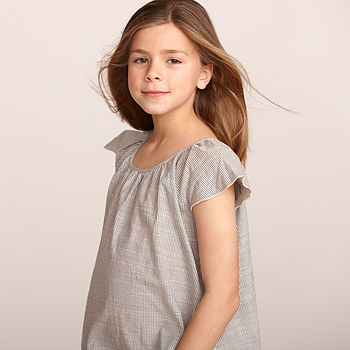 Girl's Striped Cotton Top
