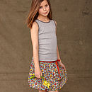 Girl's Liberty Print Gathered Skirt