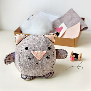 Make Your Own Kitten Craft Kit - sewing & knitting