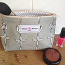 Daisy Grey Small Make-Up Bag