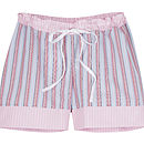 Egyptian Cotton Sleep Short- Pink and Blue Stripe