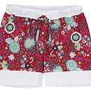 Egyptian Cotton Sleep Short- Red Floral