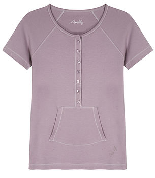 Short Sleeve Pocket Tee- Grape