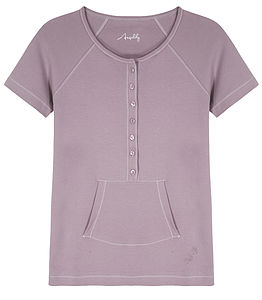 Short Sleeve Pocket Tee - lingerie & nightwear