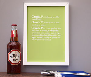Personalised Grandad / Grandpa Print - gifts for grandparents