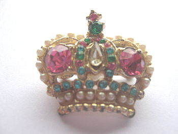 Vintage Coronation Crown Brooch