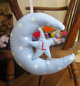 Personalised Baby Moon Mobile - children's room accessories