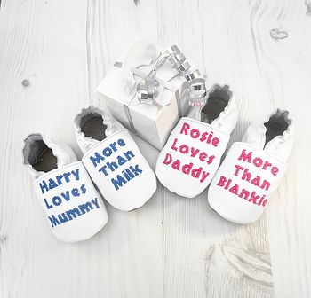 Personalised 'Baby Loves More Than…' Shoes