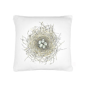Nest Organic Cotton Cushion - patterned cushions