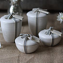 Scented Candles In Porcelain Pots