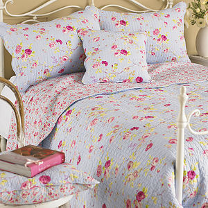 Country Rose Pillow Sham - bedspreads & quilts