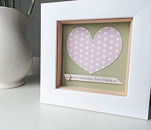 Personalised Fabric Heart Artwork - gifts for the home