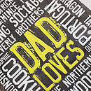 Personalised 'Loves' Reclaimed Slate