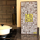 Personalised 'Loves' Reclaimed Slate